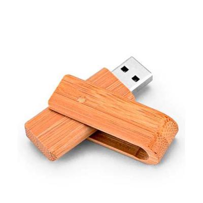 Inmark Brindes - Pen Drive em Bambu  Personalização a laser Capacidade de  8GB e 16Gb