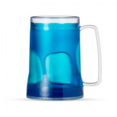 Inmark Brindes - Caneca acrílica 400ml com gel térmico, congelar apenas de boca para baixo no máximo 48hs a cada congelamento. Diversas cores. Medidas aproximadas para...