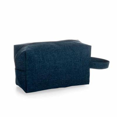 Prieto Brindes e Presentes Corporativos - Necessaire Personalizada de Nylon cor azul
