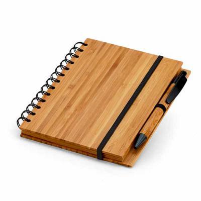 Prieto Brindes e Presentes Corporativos - Caderno De Bambu Personalizado