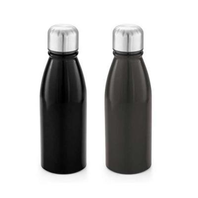 Prieto Brindes e Presentes Corporativos - squeeze personalizada cor preta com tampa em aluminio