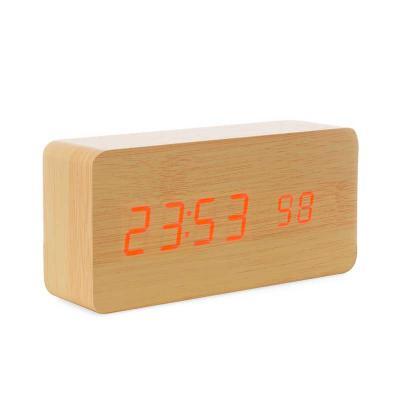 Totus Brindes - Relógio de Madeira com Display LED