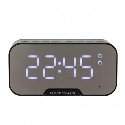 Totus Brindes - Caixa de Som Multimídia com Relógio e Suporte para Celular