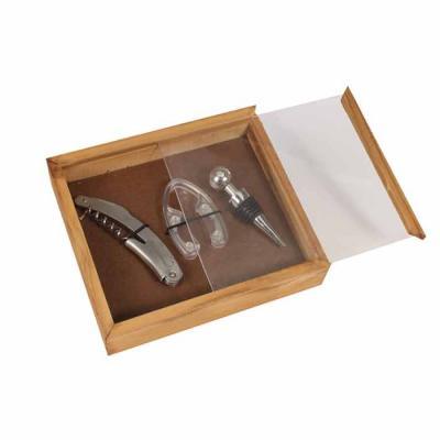 Eco Design - Kit Vinho com corta lacre, tampa, abridor e caixa