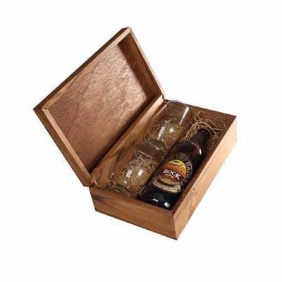 Eco Design - Kit Cerveja com caixa , cerveja Baden Baden mais dois copos de vidro personalizados