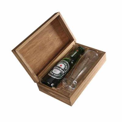 Eco Design - Kit Cerveja com cerveja Heineken 300ml, copo de vidro e caixa