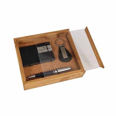 Eco Design - Kit Escritório com caneta, chaveiro, porta cartão e caixa