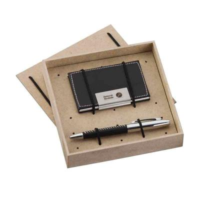 Eco Design - Kit Escritório com Caneta, Porta Cartão e caixa