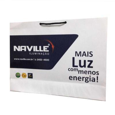 Gráfica Comvil - Sacolas personalizadas papel offset 180g Impressão off-set Acabamento em Corte Vinco Ilhós, Cordão, Gorgorão