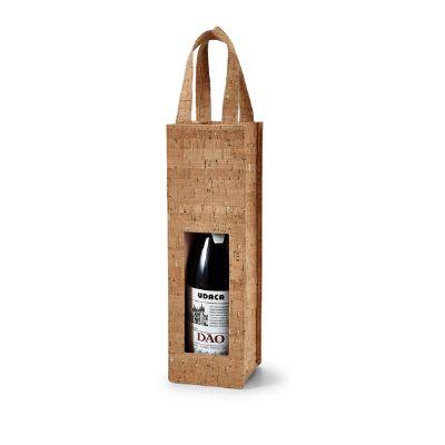 Amoriello Brindes Promocionais - Sacola de cortiça para 1 garrafa de vinho. Não acompanha bebida.
