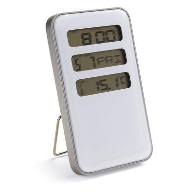 Amoriello Brindes Promocionais - Relógio de mesa com calendário e termômetro. Acompanha pilha.