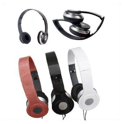 Amoriello Brindes Promocionais - Fones de ouvido estéreo dobrável com alta qualidade para Ipod/ iPhone/ PC/ MP3. Com design Connector pode ser personalizado em  etiqueta resinada.