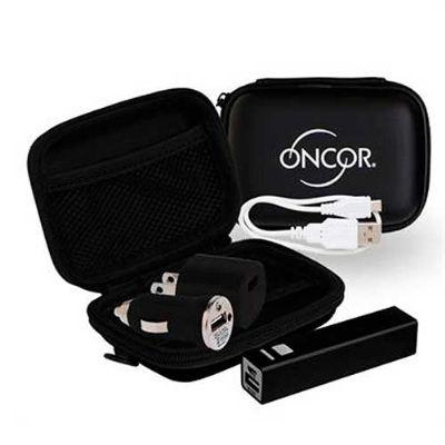 Amoriello Brindes Promocionais - Kit tecnológico USB, inclui um estojo em EVA, um Power bank (Carregador Portátil 2.000 mHa), um carregador de corrente DC 100 A 240v, um carregador pa...