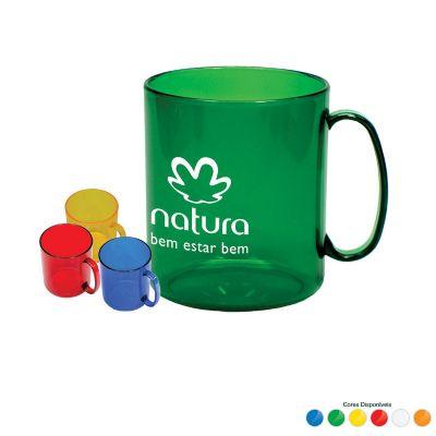 Amoriello Brindes Promocionais - Caneca plástica personalizada, variedade de cores.