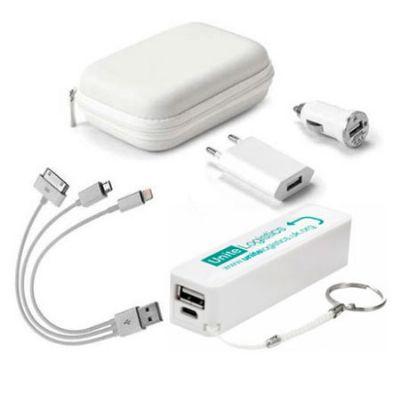 Amoriello Brindes Promocionais - Kit carregador de celular personalizado