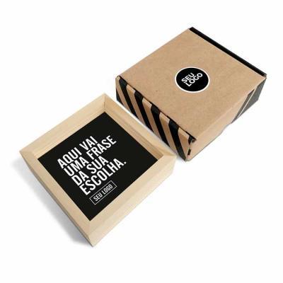 Caixa Filosofal - Quadro Dupla Face 12 x 12 x 4cm   O quadrinho vai pronto e com embalagem para presentear, você não tem com o que se preocupar!  Ideal para eventos e a...