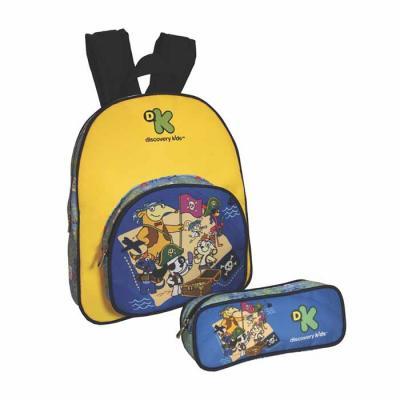 Super Bag Artigos Promocionais - Mochila e estojo Infantil em nylon 600.  A mochila possui alças de costa espumada e pegador para mão em fita de poliéster de 30 mm na parte superior....