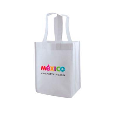 super-bag-artigos-promocioanais - Sacola retornável feita em Nylon, com alça de mão. Impressão em serigrafia.