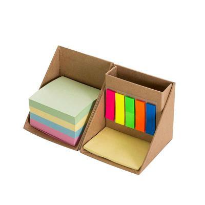 CCM Mercobrindes - Bloco de anotações com sticky notes formato cubo, abre e fecha em diagonal. Possui 5 blocos auto-colantes com aproximadamente 26 folhas cada, bloco am...