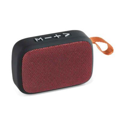 CCM Mercobrindes - Caixa de som com microfone em ABS e tecido em Poliéster com acabamento emborrachado. Transmissão por bluetooth, ligação stereo 3,5 mm e leitor de cart...