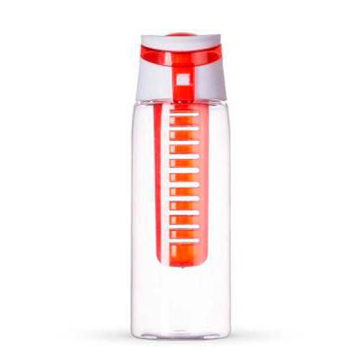 Smart Promocional - Garrafa em plástico AS, AS (Estireno de acrilonitrilo) , com infusor de frutas, tampa e alça.  Capacidade de 750 ml. Silk 25 x 7cm