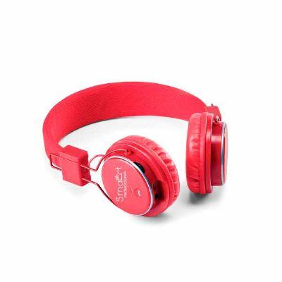 Smart Promocional - Fone de ouvido dobrável. ABS. Ajustável. Com estrutura almofadada, transmissão por bluetooth e leitor de cartões TF. Autonomia até 4 h. Função para at...