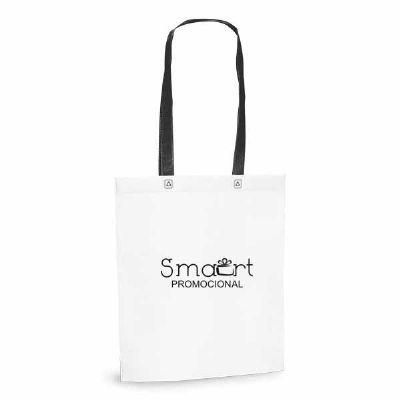 Smart Promocional - Sacola. Non-woven: 80 g/m². Termo-selado. Alças de 55 cm. 330 x 390 x 80 mm
