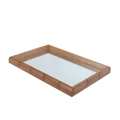 Decorex - Bandeja Decorativa Com Espelho (30x45cm) Moldura Bambu - 9039 - Personalizável   Material: Moldura Pinus   Modelo: Bambu  Tamanho: 4 x 30 x 45 cm  (Al...