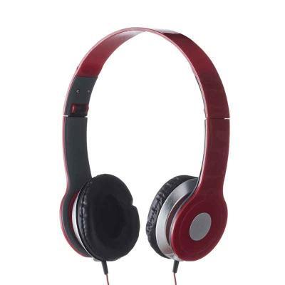 Blimp Brindes - Fone de ouvido estéreo articulável, protetor em couro sintético com espuma e material plástico inteiro colorido com detalhes prata. Headfone de hastes...