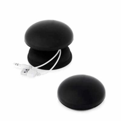 blimp-brindes - Caixa de som. ABS. Com ligação stereo 3,5 mm. Incluso cabo USB para carregar.