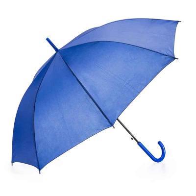Blimp Brindes - Guarda-chuva colorido com tecido de nylon e abertura automática, basta acionar o botão inferior. Possui 8 varetas pretas de aço, pegador e bico superi...