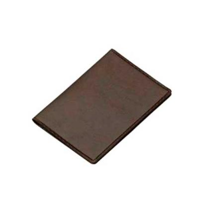 blimp-brindes - Carteira porta documento em couro sintético de frente e verso liso, parte interna com bolso plástico e duas divisórias para cartões.