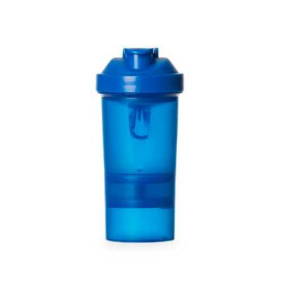 Blimp Brindes - Coqueteleira 400ml plástica porta suplementos desmontável. Possui: copo 400ml (medida em ml e oz), compartimento com divisória para comprimidos, compa...