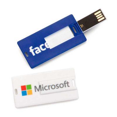 Crie Gráfica & Brindes - Pen drive modelo pen card personalizado com logomarca  4gb - 8gb - 16gb ou 32gb