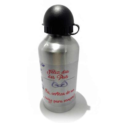 Crie Gráfica & Brindes - Squeeze de Inox com tampa plástica - excelente qualidade! Material: alumínio Personalizada com gravação: sublimação de logo/arte/mensagem/frase direto...