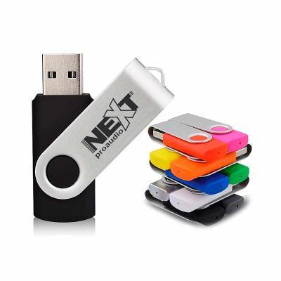 ALL PEN - Pen drive giratório personalizado com várias opções de cores e capacidades de 4, 8, 16, e 32 GB. Gravação de seu logotipo em laser, tampografia ou imp...