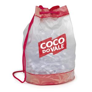 Jumas Produtos Promocionais - Mochila saco em sarja 020 fundo e barra colorida, com cordão de ombro.
