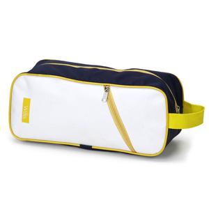 Jumas Produtos Promocionais - Porta tênis em nylon 600 com bolso frontal, ziper e alça de mão.