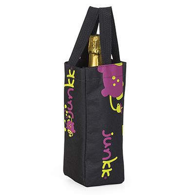 Jumas - Sacolinha em nylon para vinho, alça de mão em cadarço. 13.5larg x 13.5alt x 30