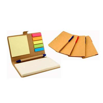 Box Brindes - Bloco de anotação com sticky notes e caneta reciclável