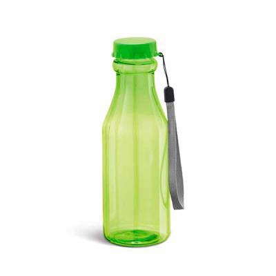 Box Brindes - Squeeze em plástico AS, capacidade 510 ml, tampa de rosquear e alça de mão em cordão para carregar, Personalizado com gravação em Silk.  Medida: 20,3...