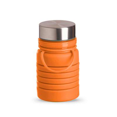 Box Brindes - Garrafa em silicone retrátil 500 ml