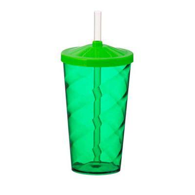 Box Brindes - Copo Twister 550 ml com tampa e canudo