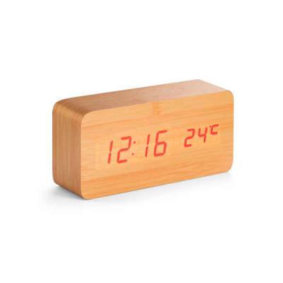 Box Brindes - Relógio de mesa Led em MDF