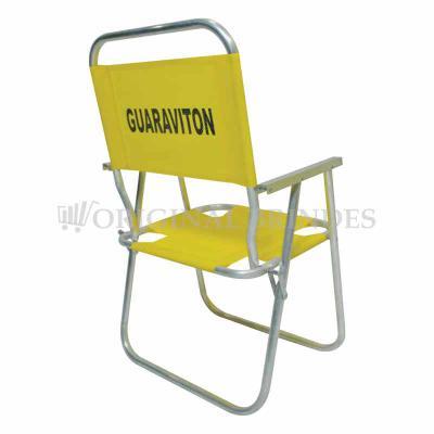 Original Brindes - Cadeira de Praia modelo Alta confeccionada em tubo de alumínio. Disponível em várias Cores. Gravação da logomarca em 1 cor já inclusa. Materiais utili...