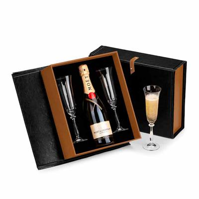 FCFIT BOLSAS - Kit Espumante Premium com caixa de couro sintético