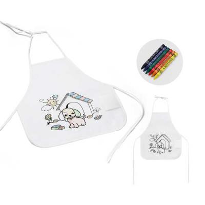 Projeto Promocional - Avental de criança para colorir