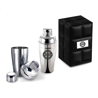Projeto Promocional - Coqueteleira 500 ml Inox com tampa e coador   - Coqueteleira em aço inoxidável; - Separador no gargalo; - Capacidade para 500ml;  Limpeza e Conservaçã...