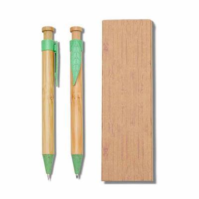 FCFIT BOLSAS - Conjunto Caneta e Lapiseira Bambu
