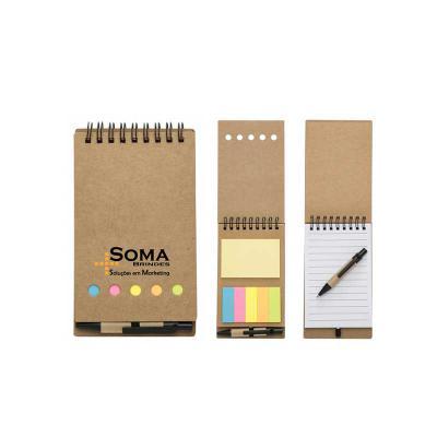 SOMA Brindes - Bloco De Anotações Ecológico Com Mini Caneta